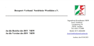 Ausschreibung NRW Qualifikatio Internationale Deutsche U22-Meisterschaft